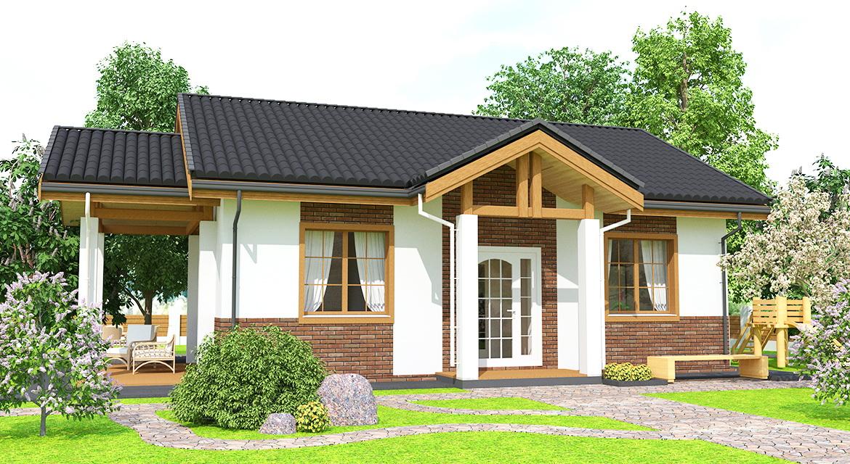"""Проект одноэтажного дома располагающий к размеренной жизни в стиле """"Прованс"""""""